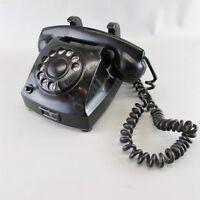 VINTAGE BLACK TELEGRAFVERKET ROTARY DIAL Desk TELEPHONE