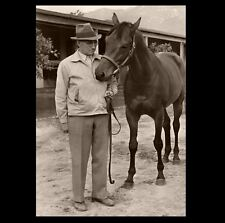 Seabiscuit PHOTO Horse Race Racing Legend Champion, With Trainer