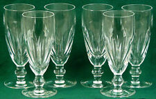 A FINE SET OF SIX WATERFORD IRISH CRYSTAL CHAMPAGNE FLUTES/GLASSES