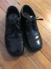 Deer Stags Youth Boys Black Dress Shoes Size 1M Gabe Style Euc
