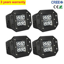 4X 24W CREE SPOT LED Cube Podst Flush Mount Work Ligh Offroad Truck Jeep Square