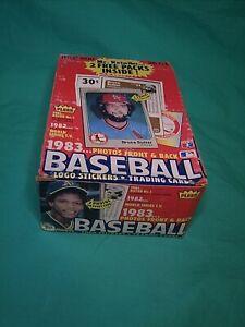 1983 FLEER BASEBALL Wax Box 36 + 2 packs  38 Total! Complete!