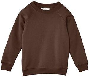 Child's Crew Neck Sweat-shirt Jumper Brown Sizes 2 & 3