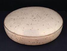 Vintage Round 1960s Vinyl Seat/Bar Stool Cushion Beige/Gold Mid Century Modern