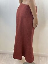 LAURA ASHLEY Vintage Rust Red Wool Fishtail Skirt Size 12