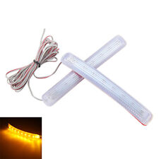 2x Amber Yellow Soft 8 SMD LED For Car Side Mirror Turn Signal Indicator Light