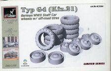 Armory 1:35 Type 64 Kfz.21 Wwii German Staff Car Wheel off-road Tires #Ac-3504