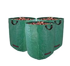 rechteckig bis 120 Liter /& 25 kg Royal Gardineer Gartenabfallsack: 3er-Set Gartensäcke für Laub /& Co Laubsack