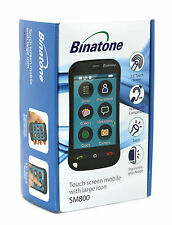 """Binatone Black 3.5"""" LCD Senior Touch Screen Mobile with Large Icons [SM800]"""
