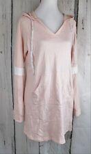 Energie Juniors' Sarai Sneaker Hoodie Tunic Top Dress Pullover Pink Medium M