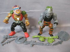 TMNT 1988 BEBOP & ROCKSTEADY Complete Action Figures Teenage Mutant Ninja Turtle