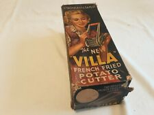 More details for vintage villa french fried potato cutter in original box 1950s kitchenalia