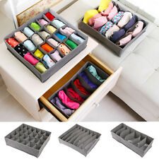 3Pcs Underwear Bra Socks Ties Divider Closet Container Storage Box Organizer Set