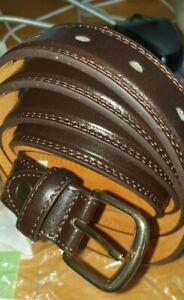 PU/Bonded Leder Gürtel dunkelbraun Größe 52/54 vr287 05