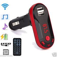 Bluetooth Wireless FM Transmitter MP3 Player Handsfree Auto Kit USB TF SD Remote
