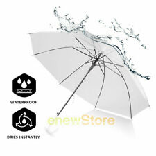 45Inch Durable Large Clear Golf Umbrella Transparent Golf Umbrellas J Handle