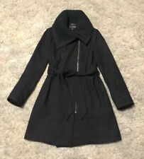 Express Womens Black Long Wool Coat