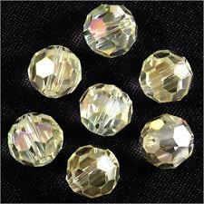 Lot de 20 perles à FACETTES 8mm en Cristal de Bohème Champagne