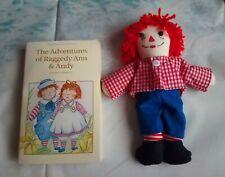 Handmade Raggedy Ann Christmas Decorations (Set 2) Happy Andy Doll + book