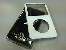 New White Front Faceplate + 60GB Back Cover Housing for iPod 5th 5.5 Gen Video