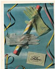 PUBLICITE ADVERTISING  1955   FILEX  gants Nylon