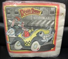 Vntg Roger Rabbit Beverage Napkins, MISP!  1988 Unique Industries, Disney