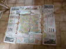 Epave d'Ancienne Affiche Le Petit Journal XIXe siecle la France et ses Colonies