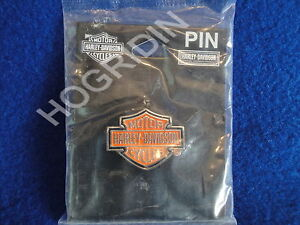 Harley bar & shield motorcycle vest jacket pin touring softail dyna sportster