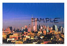 Photo WORLD TRADE CENTER WTC MANHATTAN SKYLINE View From NJ 1980s Free Ship!