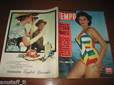 RIVISTA TEMPO 1956/38=LIUBA ROSA=GINA LOLLOBRIGIDA=DANIK PATTISON=CINEMA VENEZIA