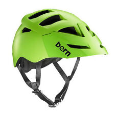 Bern Matte Neon Green 2015 Morrison Zipmold-visor MTB Helmet L/xl
