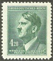 DR Nazi 3rd Reich Rare WW2 Stamp 1945 Hitler Head Last Nazi Stamp in Cechy Occup