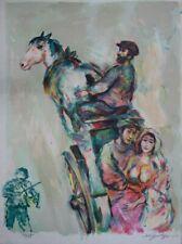 Walter SPITZER : Le retour des mariés - Lithographie originale signée