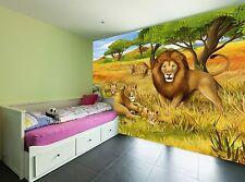 Illustration Safari  Wall Mural Photo Wallpaper GIANT WALL DECOR Paper Poster