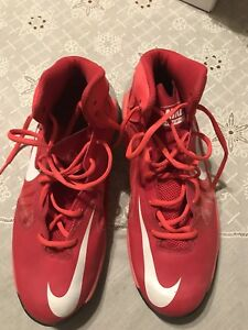 Mens NIKE PrimeHYPE DF Basketball Shoes 683705 600 Sz 8.5 M Red/Gray/Crimson