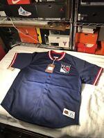 Mitchell & Ness New York Rangers Mesh Button Jersey