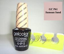 OPI GelColor Samoan Sand GC P61 Soak Off LED/UV Gel Nail Polish .5oz + BONUS