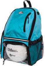 Lish Girls Large School Sports Volleyball Backpack Bag w Ball Compartment (Aqua)