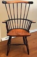 """VTG High Back Fan Back Windsor Wood Chair Salesman Sample 7 Spindles 15"""""""