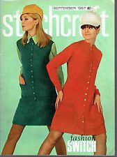 Vintage retro Magazine Stitchcraft  SEPTEMBER1967 Great lots of things to make