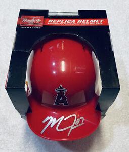 Mike Trout Signed Auto Los Angeles Angels Mini Helmet COA