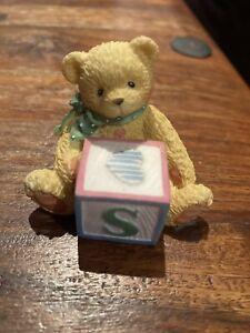 Cherished Teddy 158488S Alphabet ABC Block Bear Letter S 1995