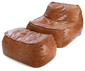 Bean bag Leather Suede Jumbo Sofa Chair without Bean for a luxury Home Decor