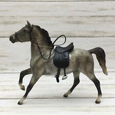 2002 Breyer Classic Horse Toy White Grey Riding Stallion Saddle Appaloosa Equine