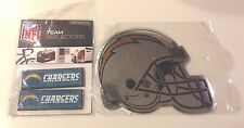 San Diego Chargers NFL Team Reflectors Pack & Chrome Magnet Helmet Sticker HQ SD