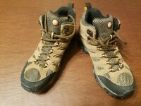 Merrell Continuum Earth Brown Waterproof Hiking Shoes-Men's Size 8