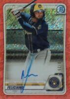 MLB Card 2020 Mario Feliciano Topps Bowman Auto 10/25