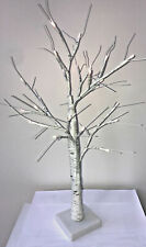 Table Top White Birch Tree With 24 LED Lights 60cm Battery Operated
