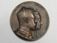 1902 King Edward VII & Queen Alexandria Coronation Medal / Token.  #4