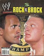 WWE Wrestling Magazine September 2002 The Rock Brock Lesnar Summerslam WWF